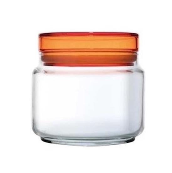 صورة Luminarc - Storage Glass Jar, Orange Lid - 0.50L
