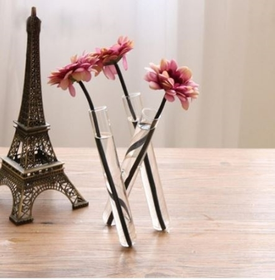 Picture of 3 Tubes Flower Vase - 34  x 12 Cm