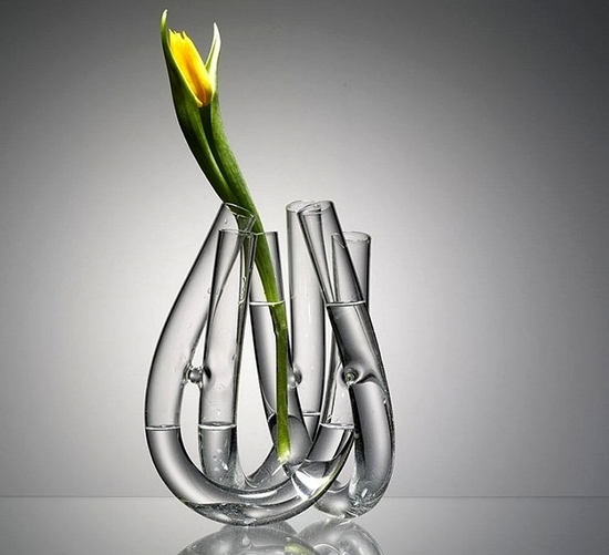 "Picture of ""U"" Shaped Tubes Flower Vase - 22 x 22 Cm"