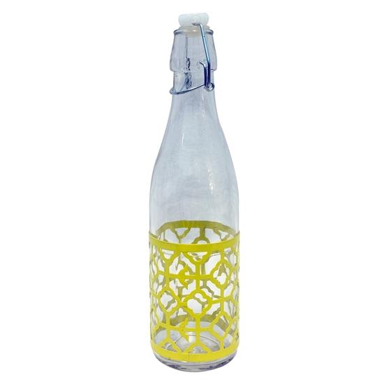 صورة قنينة مع سدادة, زجاج شفاف - 27 × 6.5 سم