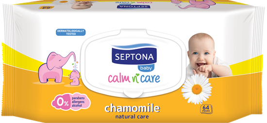 Picture of Septona - Baby Pure Wipes Chamomile 64 PC