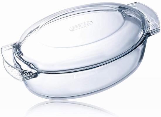 صورة Pyrex - Oval glass saucepan with lid, 5.8 L