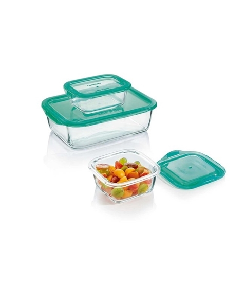 Picture of Luminarc - Square Keep N Box set of 3 containers