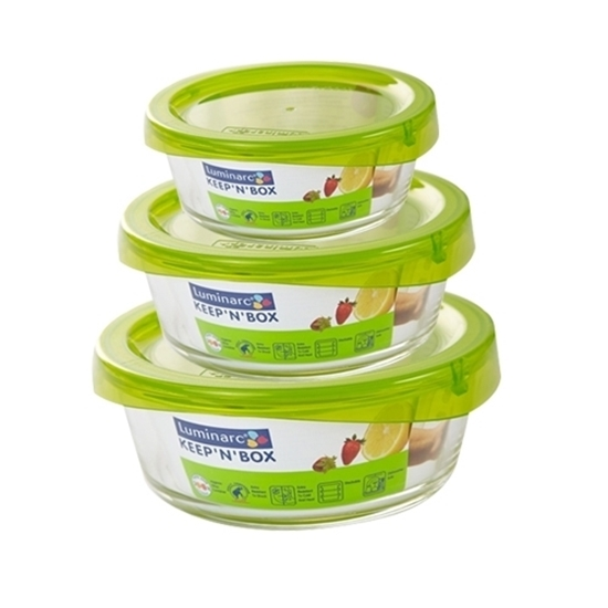 Picture of Luminarc - Keep N' Box Round Container - Set of 3
