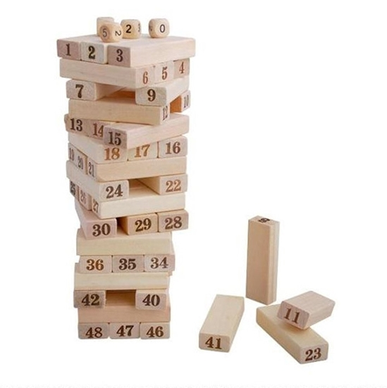 Picture of 48PC Wooden Stacking Board Game