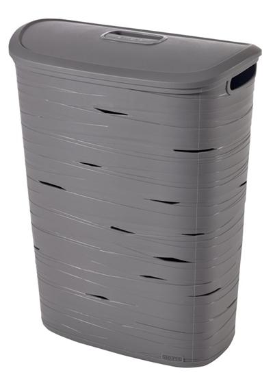 صورة Curver - Ribbon Grey Plastic Lid 47 L - 46 x 27 x 59 Cm