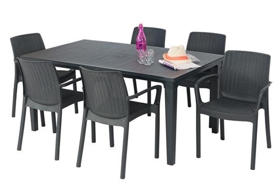 صورة طاولة + 6 كراسي، خارجية