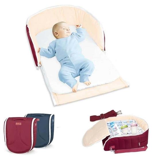 صورة سرير أطفال متعدد الوظائف قابل للطي - 42 × 40 × 38 سم