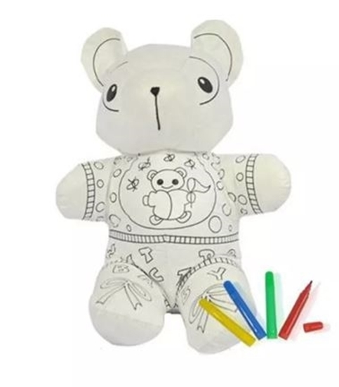صورة Paintable Toys Draw on Stuffed Animal - 20 x 14 Cm