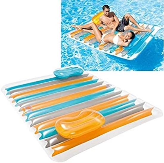 Picture of Intex Inflatable Double Pool Lounge Mat - 198 x 160 x 15 Cm