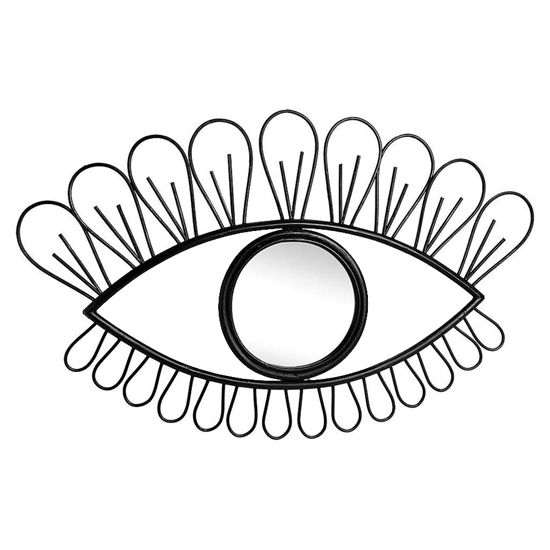 صورة Black Eye-Shaped Mirror - 42 x 25 Cm