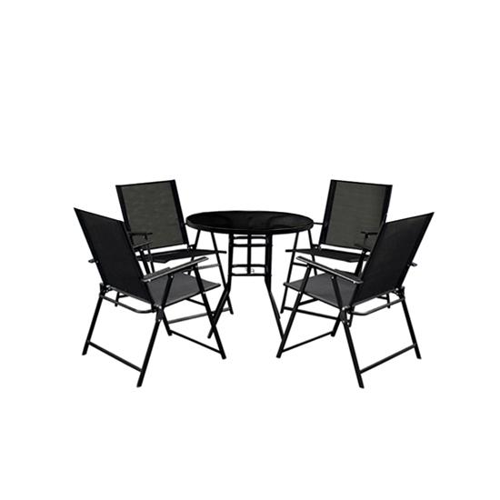صورة Black Outdoor Table & Chair - (1+4)