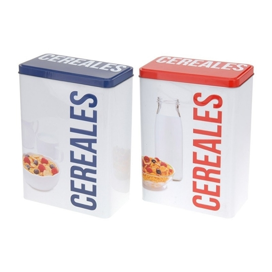 Picture of Metal Cereal Box - 18 x 10 x 25 Cm