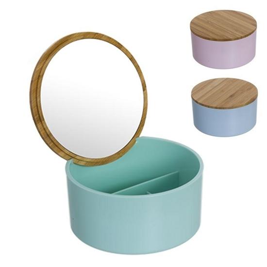 صورة صندوق مجوهرات مع مرآة - 13 × 9 سم