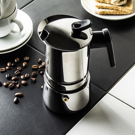 صورة Pedrini - Pressure Steel Coffee Maker - 16 x 11 x 22 Cm