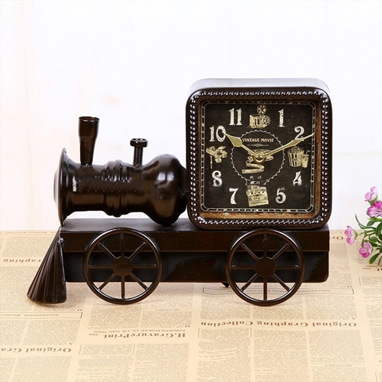 Picture of Train Table Clock - 27 x 21 Cm