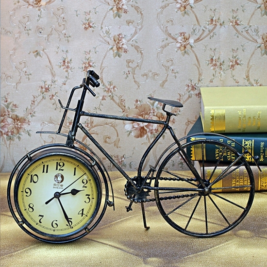 صورة Bicycle Table Clock - 39 x 24 Cm