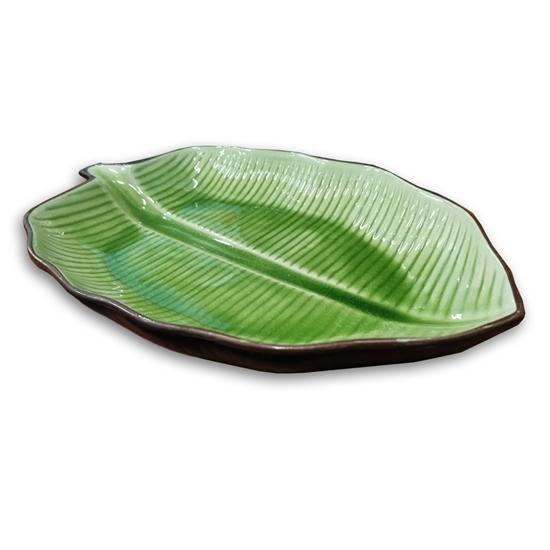 صورة Green Leaf Plate - 31.75 Cm