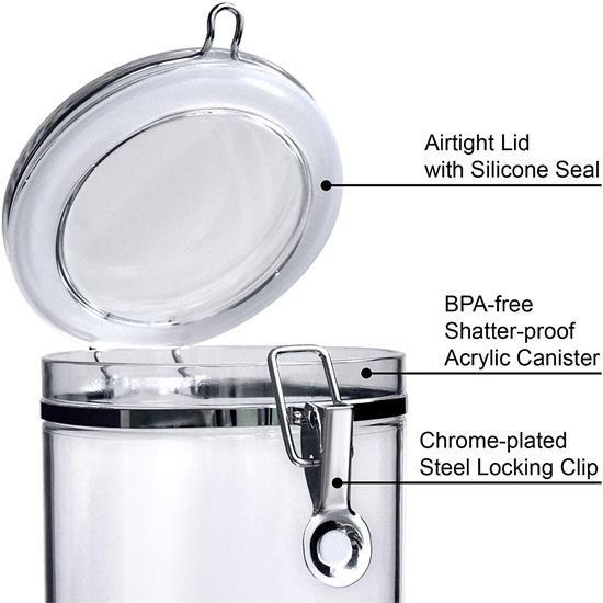صورة Acrylic Jar - 12 x 19 Cm