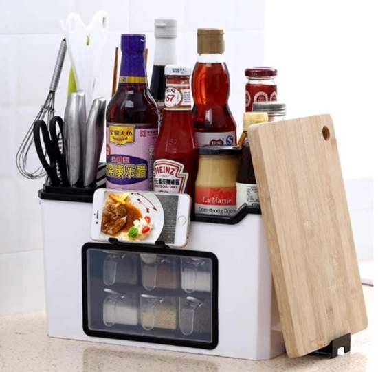 صورة Kitchen Spices Storage Organizer - 34 x 19 x 22 Cm