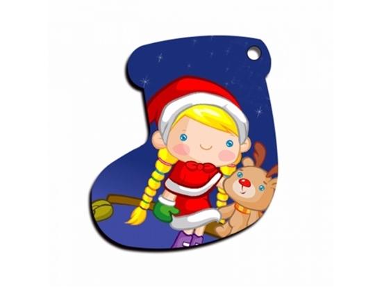 صورة Christmas Stocking Shape Pendant - 7 x 5.5 Cm