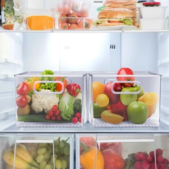 صورة منظم للثلاجة - 21 × 21 × 15 سم