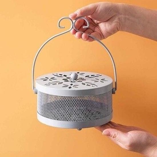 صورة صندوق لفائف البعوض من الحديد المطاوع - 15 × 8 × 20.5 سم