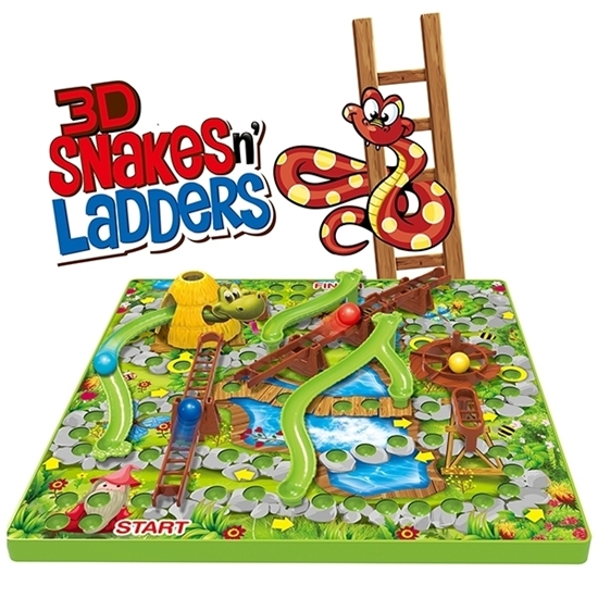 Picture of 3D Snakes and Ladders Game