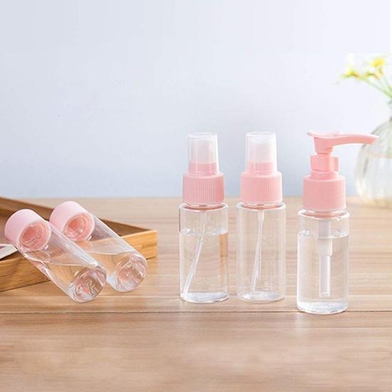 صورة مجموعة زجاجات السفر البلاستيكية ، 5 قطع - 20 × 14 سم