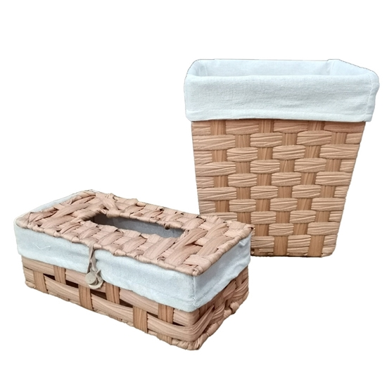Picture of Basket & Tissue Box - 21 x 24 x 25 Cm