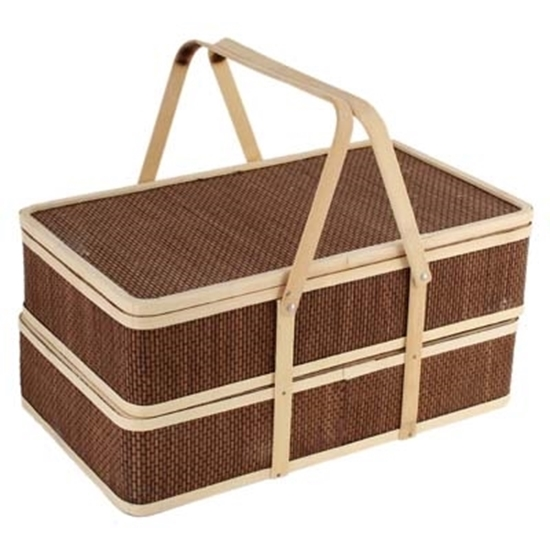 Picture of Bamboo Basket - 40 x 23 x 18 Cm