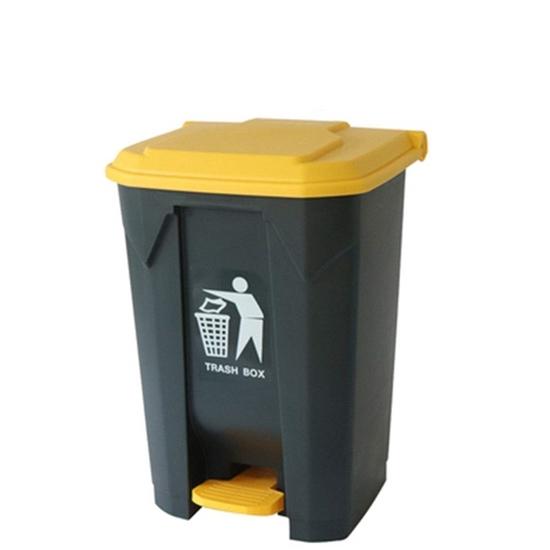 صورة Plastic Dustbin With Pedal, 80L - 49 x 42 x 71.5 Cm