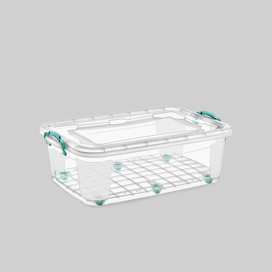 صورة Poly Time - Storage box with wheel, 30L - 41 x 63 x 21 Cm