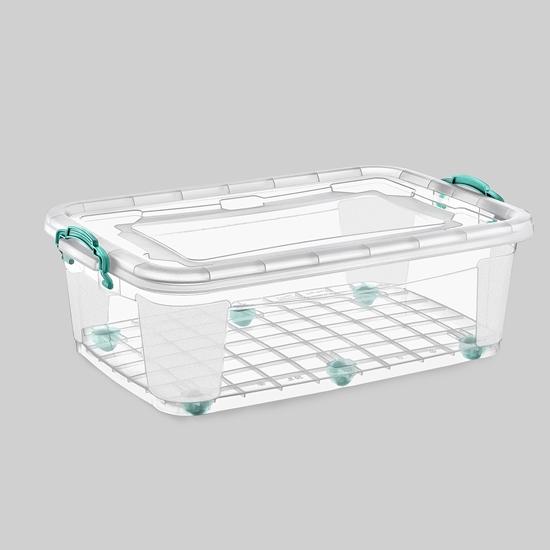 صورة Poly Time - Storage box with wheel, 50L - 41 x 63 x 32 Cm