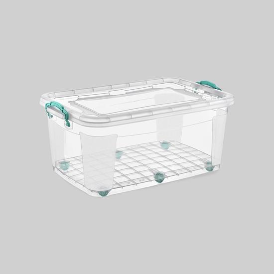 صورة Poly Time - Storage box with wheel, 60L - 47 x 72 x 28 Cm