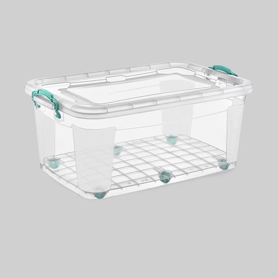 صورة Poly Time - Storage box with wheel, 80L - 47 x 72 x 36 Cm