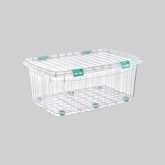 صورة Poly Time - Storage box with wheels, 90L - 55 x 82 x 35 Cm