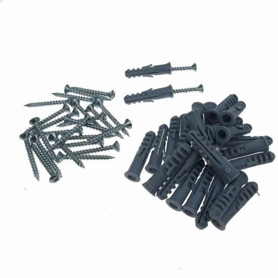 صورة Plastic Anchor Screw with Steel Screw Kit - 3 x 4 Cm