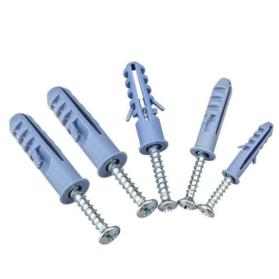 صورة Plastic Anchor Screw with Steel Screw Kit - 3.5 x 4.5 Cm