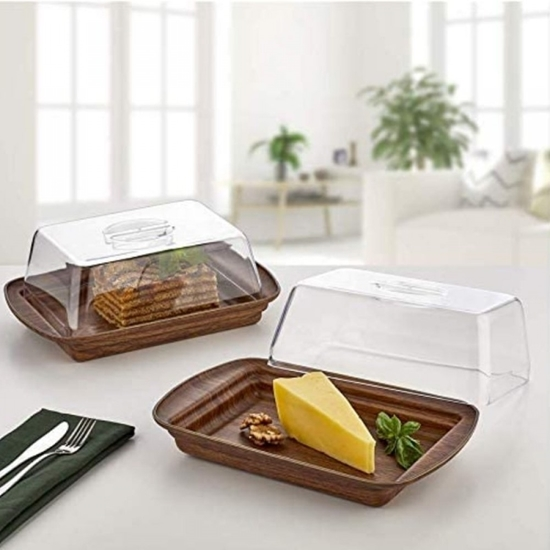 Picture of Evelin - Rectangular Cheese Dish - 18.5 x 29 x 10 Cm