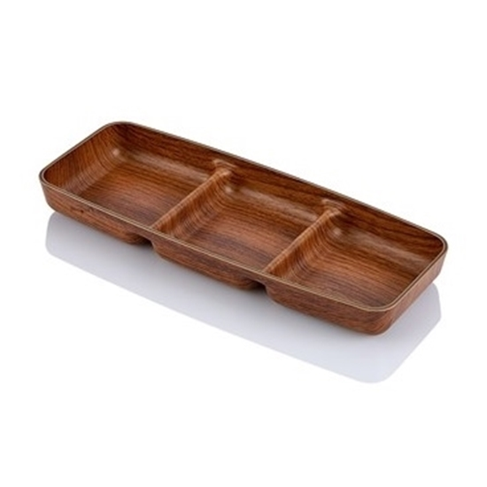 صورة Evelin - Snack Dish, 3 Compartment - 10 x 26 x 2.7 Cm